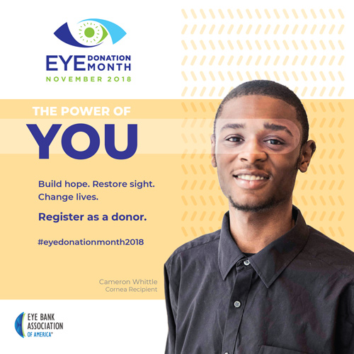 LEBDV Cornea Recipient Selected as Face of Eye Donation Month