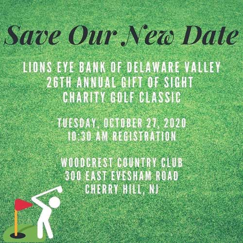 Join us on October 27, 2020: 26th Annual Gift of Sight Charity Golf Classic
